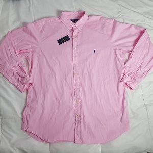 NEW Ralph Lauren Casual Shirt Mens 2XLT Pink